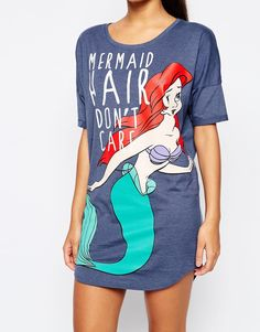 Image 3 ofMissimo Disney Mermaid Hair Nightdress