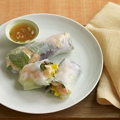 Shrimp and Mango Summer Rolls With Sweet and Spicy Dipping Sauce | health.com