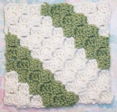 Diagonal Box Stitch Square | AllFreeCrochetAfghanPatterns.com