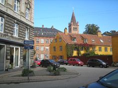 Street view, inner city Bricks, Copenhagen, Copper, Street View, Mansions, House Styles, City, Home Decor, Manor Houses