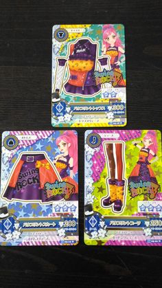 "Trading card of Japanese Idol Animation ""AIKATSU"" Bow print coord"