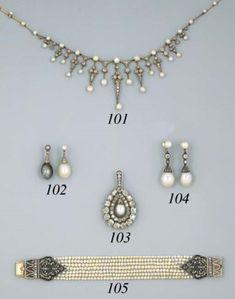 A Pair of Pearl And Diamond Ear Pendants Pearl And Diamond Necklace, Diamond Earing, Pearl Drop Earrings, Pearl Bracelet, Beaded Bracelets, Pearl Pendant, Diamond Pendant, Royal Jewelry, Vintage Jewelry