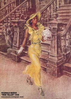 "Reginald Marsh | The American Painter of ""High Yaller"" and ""Why Not Use the 'L'?"""
