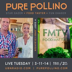 Tomorrow is the day to transform your life and open up to a fresh way to experience food? Join the LIVE conversation 11am/pst on UBNRadio.com  #Food, #naturalhealth, #holistic, #wellbeing, #eatwell, #eating, #goodeats #indulge #MichellePollino #JamesColquhoun #LaurentineTenBosch #Food Matters #HungryForChange #FMTV #Farmageddon #Cancerfree #Fat #sick #NearlyDead #BeWell #weightloss #Junkfood #Badfood #eatclean