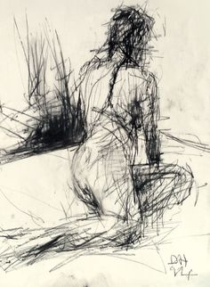 Life Drawing with bamboo stick and charcoal. #Art #LifeDrawing #Charcoal #Drawing