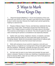 5 Ways to Mark Three Kings Day  #Christmas #Catholics