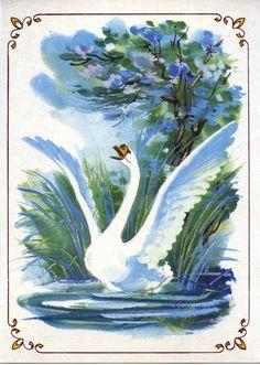 Сирень склоняла к нему в воду душистые ветви, а солнышко светило так тепло, так ярко... И вот крылья его зашумели, стройная шея выпрямилась, а из груди вырвался ликующий крик: – Нет, о таком счастье я и не мечтал, когда был еще гадким утенком!