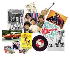 """""""Hey, Hey We're the Monkees"""" by pampire ❤ liked on Polyvore featuring art"""
