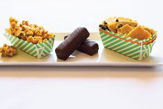 Crackle caramel corn clusters; homemade Twix bars with salted dulce de leche; and salted caramel brittle with toffee, toasted...