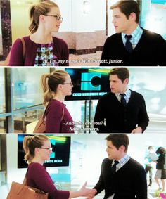 The first day they met. Kara & Winn.  #Supergirl #1x17