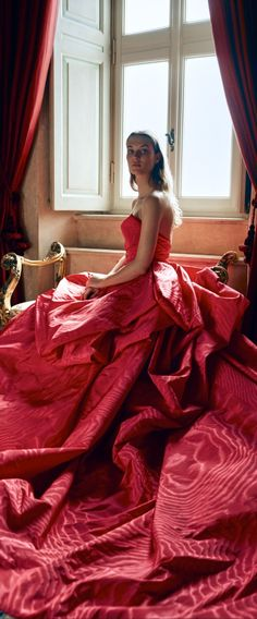 Red Bedding, Red Handbag, Ball Gown Dresses, Shades Of Red, Lady In Red, Glamour, Formal Dresses, Elegant, Monique Lhuillier
