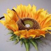 sunflower ring pillow