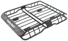 Rhino-Rack Roof Mounted Steel Cargo Basket - Long x Wide - 165 lbs Rhino Rack Roof Basket RM Roof Top Carrier, 2016 Honda Fit, Roof Basket, Roof Box, Expedition Trailer, Cool Jeeps, Roof Rack, Metal Roof, Steel