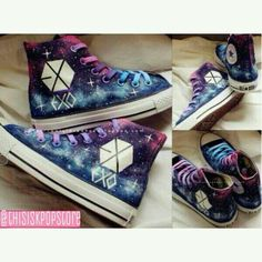 EXO Galaxy Shoes- omg come into my life ♡ ---So happy, I was just looking through all the shoes and saw these! EXOTIC POWERS!