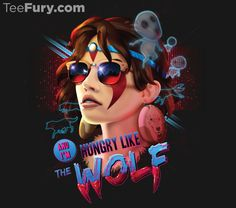 Hungry Like the Wolf by RockyDavies. Get yours here: http://www.teefury.com/?utm_source=pinterest&utm_medium=referral&utm_content=kodamakindaday%20hungrylikethewolf&utm_campaign=organicpost
