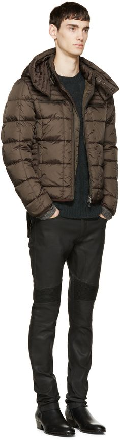 Belstaff: Green Quilted Down Fairsted Jacket | SSENSE