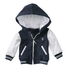 FERRARISTORE |Ferrari infant jacket with hood available now on store.ferrari.com #ferraristore #jacket#babies