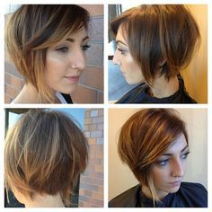 @powerleopard Here's more angles of the beautiful @kelseyan I placed the color where the hair naturally falls and especially focused on painting through the very ends with a stronger lightner to accentuate the amazing @dillahajhair haircut