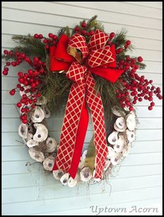 The Uptown Acorn: Decking the Halls, Front Facade {Christmas 2012}