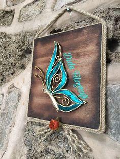 Kelebekbutterfly Nail String Art, String Crafts, Arte Linear, Simple Butterfly, Simple Wall Art, String Art Patterns, Thread Art, Crafts Beautiful, Colorful Wallpaper