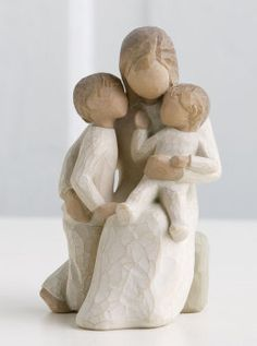 Quietly - Willow Tree Reminds me of my boys. Best Mothers Day Presents, Willow Figurines, Willow Statues, Willow Tree Angels, Willow Tree Figures, Willow Tree Family, Mother And Child, Mother Family, Collectible Figurines