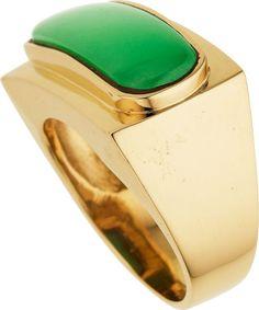 Vintage  Jade, & Gold Ring