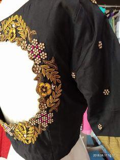 Cut Work Blouse, Hand Work Blouse Design, Simple Blouse Designs, Silk Saree Blouse Designs, Bridal Blouse Designs, Blouse Neck Designs, Blouse Styles, Silk Sarees, Designer Blouse Patterns