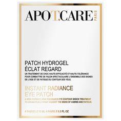 Patch Hydrogel Eclat Regard wurde von Apot.Care entwickelt, um Zeichen der Hautalterung zu bekämpfen. Die innovative Technologie macht die Instant Radiant Augenpads zu einem Beauty-Must-have, das Falten, feinen Linien, trockener Haut, Augenringen und Schwellungen entgegenwirkt.