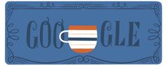 Google doodle celebrating 358th Anniversary of Tea in the UK ... animation of teabag with British Union Jack flag tag dunked in series of cups, followed by a strainer, sugar, milk and honey, 23 Sept 2016 .. date from first ad for tea in British Isles, in London newspaper 23 September 1658      https://www.google.com/doodles/358th-anniversary-of-tea-in-the-uk
