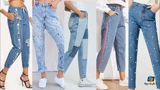 بنطلون بوي فريند تنسيقات جينز للبنات بأفكار مختلفة وبسيطة بشكل محتشم