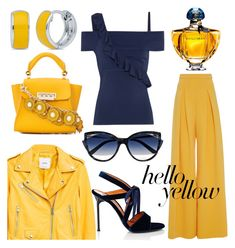 """We all live in a Yellow Submarine!"" by lullulu ❤ liked on Polyvore featuring BERRICLE, ZAC Zac Posen, MANGO, Christian Siriano, Walter De Silva, Jason Wu, La Perla and Guerlain"