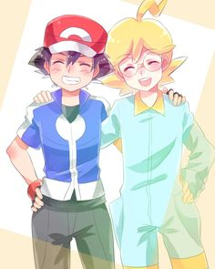 Ash and Clemont ^^❤