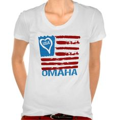 Show some USA pride with our patriotic, fun and stylish USA LOVES OMAHA PAINT INSPIRED FLAG TEE.      Great for the 4th of July, your city celebration or anytime of the year so don't miss out grab yours today. www.citystyletees.com
