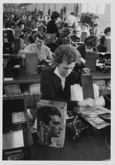 Clerks in Liverpool busy checking pools coupons. Original Publication: Picture Post - 7105 - The Best And The Worst Of British Cities - Liverpool - pub. 1954 Get premium, high resolution news photos at Getty Images Liverpool Town, Liverpool History, Liverpool England, Old Pictures, Old Photos, Historical Pictures, Best Cities, The Good Old Days, Vintage Photographs