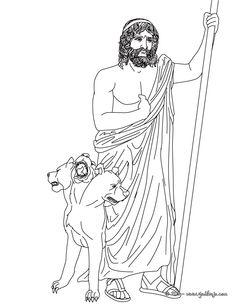 Hades Greek Goddess Gods Coloring Page