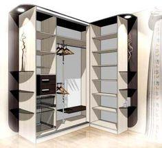 Конструктивный дизайн шкафа купе.