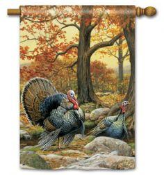 Wild Turkeys Standard Flag