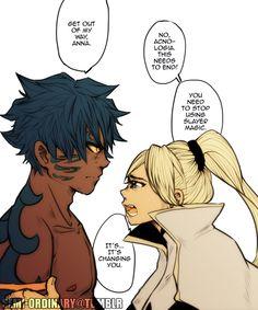 fairy tail 7 dragon slayers vs acnologia and anna
