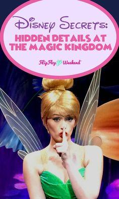 Walt Disney World is full of hidden details and amazing Disney secrets. Experience a bit more Disney magic than the average tourist by not missing out on some of these hidden Disney details and secrets at the Magic Kingdom. #WDW #Disney #MagicKingdom #Disneysecrets