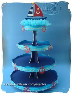 Claudell Crafts: +Fiesta Temática: Náutica+ Sailor Birthday, Sailor Party, Sailor Theme, Mickey Birthday, Baby Birthday, Nautical Mickey, Nautical Party, Baby Showers Marinero, Baby Shower Themes