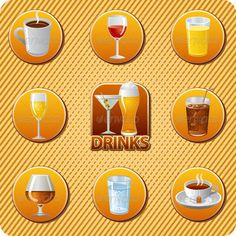 Realistic Graphic DOWNLOAD (.ai, .psd) :: http://jquery-css.de/pinterest-itmid-1007448924i.html ... Drinks Menu ...  alcohol, bar, beer, champagne, cocktail, coffee, cognac, cola, drink, drinks, glass, ice, icons, illustration, juice, martini, menu, restaurant, set, soda, tea, vector, water, whiskey, wine  ... Realistic Photo Graphic Print Obejct Business Web Elements Illustration Design Templates ... DOWNLOAD :: http://jquery-css.de/pinterest-itmid-1007448924i.html