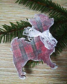 Купить Собачка на ёлку (Новый год 2018) в интернет магазине на Ярмарке Мастеров