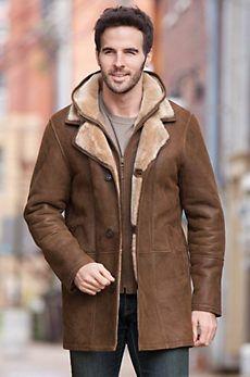 Dylan Hooded Shearling Sheepskin Coat