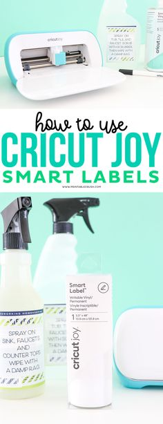 How to Use Cricut Joy Smart Labels #cricutjoy #cricutmade #cricutcraft #organizing #organization #bathroomorganization
