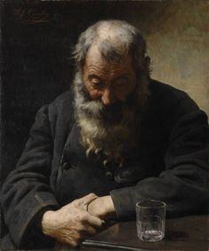 An Empty Glass, Alexandre Jacques Chantron. French (1842 - 1918)