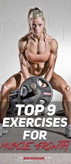 Check out The Top 9 Exercises for Muscle Growth! #fitness #gym #exercise #workout #gym