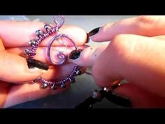 ▶ Tutorial orecchini tecnica wire - wire earrings - YouTube