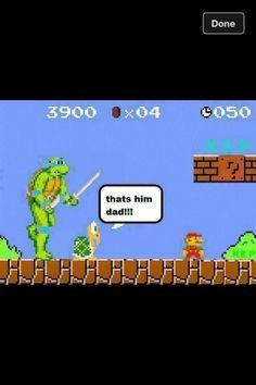 Teenage Mutant Ninja Turtles vs. Super Mario