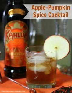 Apple-Pumpkin Spice Cocktail - Celebrations at Home