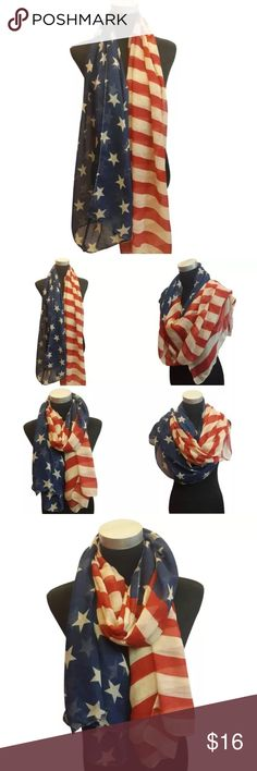 🇺🇸NWOT Vintage Looking Long Flag Wrap/Scarf🇺🇸 🇺🇸NWOT Vintage Looking Long Flag Wrap/Scarf🇺🇸 Pattern is shown in the first picture. Can be worn several ways. Can be worn as a bathing suit cover-up, wrap around the waist and tie at the sides. Accessories Scarves & Wraps